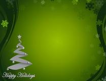 Netter Hintergrund des Grüns frohe Feiertage Lizenzfreies Stockbild