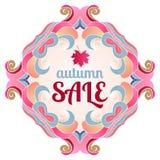 Netter Hintergrund   Herbstverkauf Stockfotografie