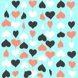 Netter Hintergrund mit bunten Herzen Stockfotos