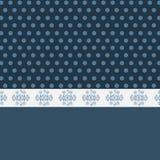Netter Hintergrund mit Mustern und peastones lizenzfreie abbildung