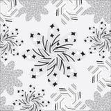 Netter Hintergrund von verschiedenen Mustern auf einem weißen b Stockbilder