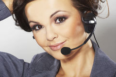 Netter Hotlinesbediener Lizenzfreie Stockfotografie