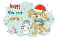 Netter Hund in der Karikaturart Lizenzfreie Stockfotografie