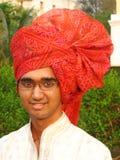 Netter indischer Landwirt stockbild