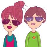 Netter Junge und Mädchen Lizenzfreie Stockbilder