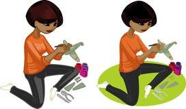 Netter junger Afroamerikanerfrauenliebhaber Lizenzfreies Stockbild
