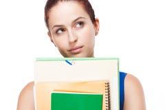 Netter junger Brunettestudent. Lizenzfreie Stockfotografie