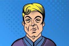 Netter junger Mann - Retro- Clipart-Illustration stock abbildung