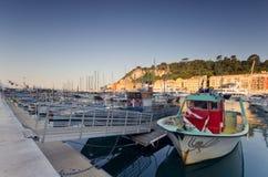 Netter Kanal, Frankreich Stockfotos