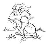 Netter Karikatur-Löwe Lizenzfreies Stockfoto