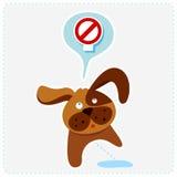 Netter Karikaturhund mit Zeichen - vector Illustration lizenzfreie abbildung