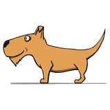 Netter Karikaturhund. Vektorillustration lizenzfreie abbildung