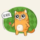 Netter Katzencharakter Lizenzfreie Stockbilder