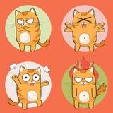 Netter Katzencharakter Lizenzfreies Stockfoto