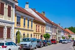 Netter kleiner österreichischer Dorf Rost 06 05 Österreich 2018 Stockbild