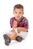 Netter kleiner Junge lizenzfreie stockfotos