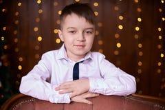 Netter kleiner Junge Schönes Porträt Abstrakte Abbildung Lizenzfreies Stockbild