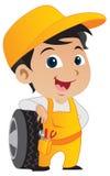 Netter kleiner Mechaniker-Junge Stockfotos
