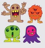 Netter kleiner Monsteraufkleber v4 Lizenzfreie Stockbilder