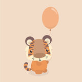 Netter kleiner Tiger Stockfoto