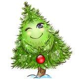 Netter kleiner Weihnachtsbaum Lizenzfreie Stockfotografie