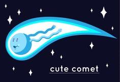 Netter Komet lizenzfreie abbildung