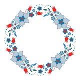Netter Kranz der dekorativen Blume lizenzfreie abbildung