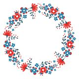 Netter Kranz der dekorativen Blume stock abbildung