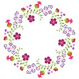 Netter Kranz der dekorativen Blume vektor abbildung