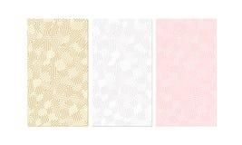 Netter minimalistic Satz Hintergründe Hellrosa, beige und weiß mit geometrischen Linien und Schatten vektor abbildung