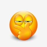 Netter misstrauischer Emoticon, emoji - vector Illustration Lizenzfreie Stockfotos