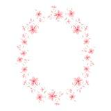 Netter mit Blumenrahmen Stockbild