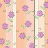 Netter nahtloser mit Blumenhintergrund Stockfoto