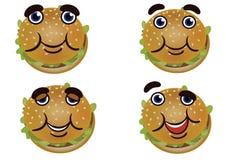 Netter netter Burger Stockbilder