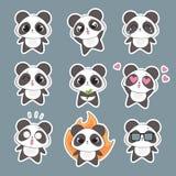 Netter Panda Character Stockbild
