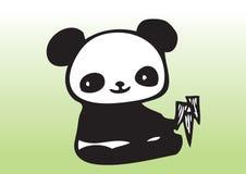 Netter Panda des Handabgehobenen betrages vektor abbildung