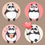 Netter Pandacharakter in der Liebe Lizenzfreies Stockbild