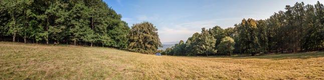 Netter Panoramablick zu Donau Lizenzfreies Stockbild
