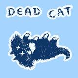 Netter Pelz die Katze tot und Lügen Auch im corel abgehobenen Betrag lizenzfreie abbildung