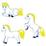 Netter Ponysatz Stockbild