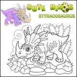 Netter prähistorischer Dinosaurier Styracosaurus, lustige Illustration vektor abbildung