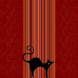 Netter Retro- Hintergrund mit Katze Lizenzfreie Stockfotografie
