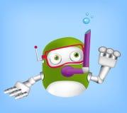 Netter Roboter Lizenzfreies Stockfoto