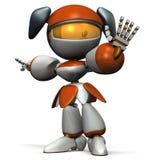 Netter Roboter wies den Gegner zurück stock abbildung