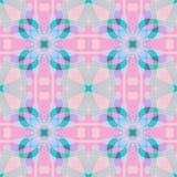 Netter rosa blauer Fractal basierte abstrakte Beschaffenheit Quadratische nahtlose Fliese Ausführliche Hintergrundillustration Ha Lizenzfreies Stockfoto