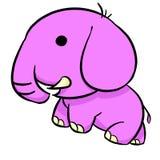 Netter rosa Elefant, Illustration stockbild