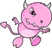 Netter rosafarbener Monster-Vektor Stockfotografie