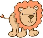 Netter Safari-Löwe lizenzfreie abbildung