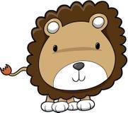 Netter Safari-Löwe stock abbildung