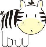 Netter Schätzchen Zebra vektor abbildung